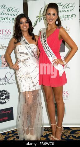 Miss Tipperary, Aoife Walsh wins Miss Ireland 2013 Finals at Ballsbridge Hotel  Featuring: Elizabeth Galera,Ally - Stock Photo