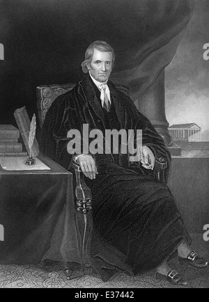 John Marshall, 1755 - 1835, American politician, lawyer, Secretary of State, founder of the Constitutional Law and - Stock Photo