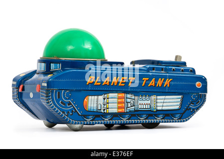 Vintage (1966) Japanese 'Planet Tank' battery-operated tinplate toy by Modern Toys - Stock Photo