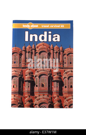 A Lonely Planet travel guide to India. - Stock Photo