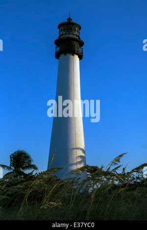Historic Cape Florida Lighthouse located in the Bill Baggs Cape Florida State Park on Key Biscayne, Miami, Florida, - Stock Photo
