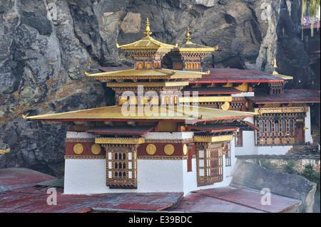 Taktshang Goemba monastery, Paro Valley, Bhutan - Stock Photo