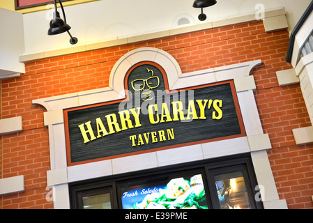 Harry Caray's Tavern sign above entrance, at Navy Pier, Chicago, Illinois - Stock Photo
