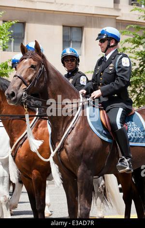 US Park Police Mounted Unit - Washington, DC USA - Stock Photo