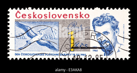 Postage stamp from Czechoslovakia depicting Bohdan Roulel Czech engraver. - Stock Photo