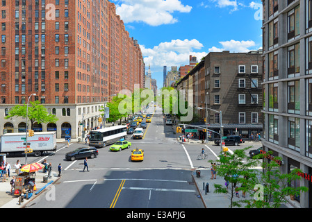 Chelsea, Manhattan, W 23rd St and 10th AV, West Side of Manhattan,  New York - Stock Photo