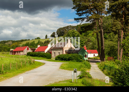 KNOCKANDO WOOL MILL ON SPEYSIDE IN EARLY SUMMER MORAY SCOTLAND - Stock Photo