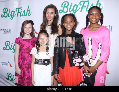 Opening night of the Broadway musical Big Fish at the Neil Simon Theatre-Arrivals.  Featuring: Zoe Colletti,Nicolette - Stock Photo