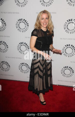 Paley Center Presents X Files  Featuring: Gillian Anderson Where: NYC, NY, United States When: 13 Oct 2013 - Stock Photo