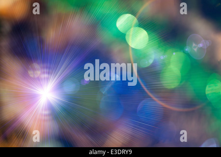 Christmas defocused lights background. Blurred lights background. Bokeh sparkling lights. Abstract colorful background. - Stock Photo