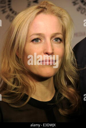 Paley Center for Media  Media presents ''The Truth is Here'' with David Duchovny and Gillian Anderson of ''X-Files'' - Stock Photo
