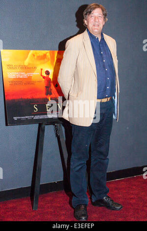 London, UK. 23rd June, 2014. Stephen Fry attends the premiere of the film Seve, a biopic of the life of the legendary - Stock Photo