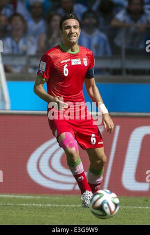 Belo Horizonte, Brazil. 21st June, 2014. Javad Nekounam (IRI) Football/Soccer : FIFA World Cup Brazil 2014 Group - Stock Photo