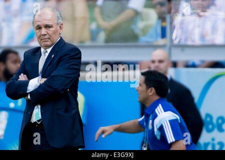 Belo Horizonte, Brazil. 21st June, 2014. Alejandro Sabella (ARG) Football/Soccer : FIFA World Cup Brazil 2014 Group - Stock Photo