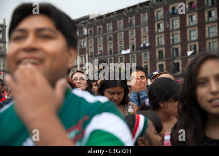 MEXICO CITY: 2014 World Cup soccer match between Croatia and Mexico - Stock Photo