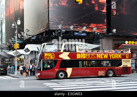 New York City Tour Bus, BigBus New York NY - Stock Photo
