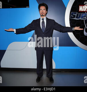Marvels Comics Legend, Creator Stan Lee Officially Unveils Madame Tussaud's Marvel 4D theater, New Multimillion - Stock Photo