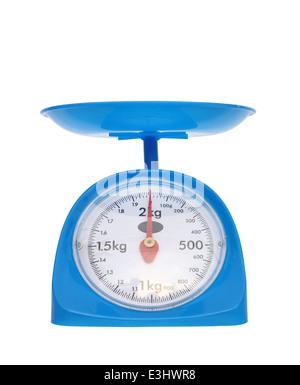 kitchen scales isolated on white background (zero point) - Stock Photo