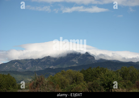 Cozia peak, Carpathian mountain, unspoiled place in Romania.