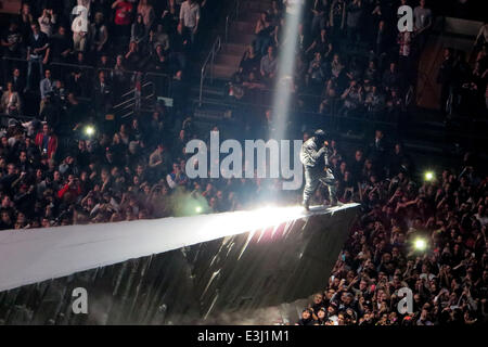 Kanye west performs to a sold out crowd at madison square garden as stock photo royalty free for Madison square garden kanye west