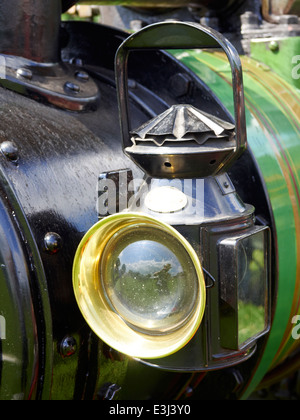 Brass Oil Lamp On Traction Engine Driffield Agricultural