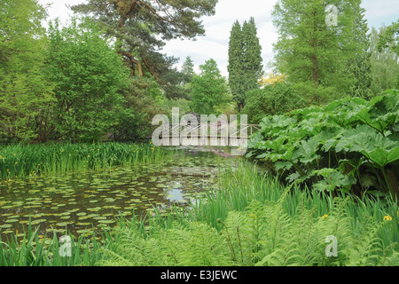 The grounds of Tatton Park in Spring, next to Knutsford in Cheshire, England, UK - Stock Photo