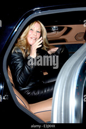 Lloyd Klein and Jocelyn Wildenstein leaving Boa Steakhouse together in West Hollywood  Featuring: Jocelyn Wildenstein - Stock Photo