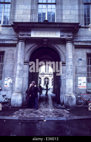 sorbonne university,paris,france,70's - Stock Photo