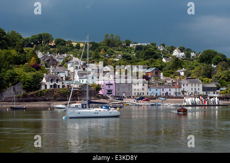 dittisham, south hams,devon,ditsum,prestige,river dart view from the south west coastal path heading towards agatha - Stock Photo