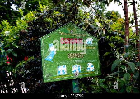 Theater Vrai Guignols in Avenue Marigny garden sign for children's puppet show. The oldest puppet theater in Paris - Stock Photo