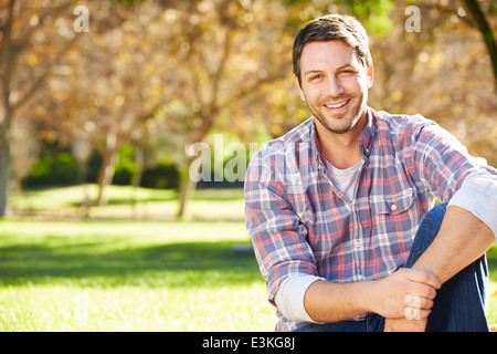 Portrait Of Man In Countryside - Stock Photo