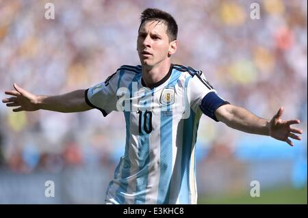 Belo Horizonte, Brazil. 21st June, 2014. Group F match between Argentina and Iran of 2014 FIFA World Cup at the - Stock Photo