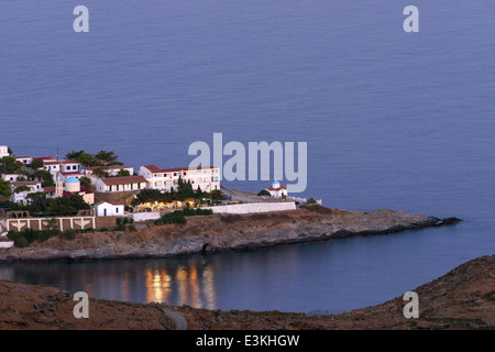 Panagia Kanala monastery in Kythnos island, is considered one of the most important pilgrimages in the Cyclades, - Stock Photo
