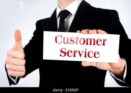 Business man agree customer service - Stock Photo