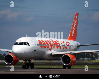 G-EZTX easyJet Airbus A320-214 taxiing at Schiphol (AMS - EHAM), The Netherlands, 18may2014, pic-5 - Stock Photo