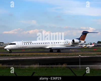 D-ACNJ Canadair CL-600-2D24 Regional Jet CRJ-900LR Eurowings taxiing at Schiphol (AMS - EHAM), The Netherlands, - Stock Photo