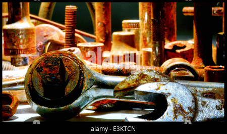 still life of some old rusty tools - Stock Photo