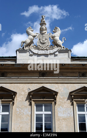 Building detail on Ulica Nowy Swiat in Warsaw - Stock Photo