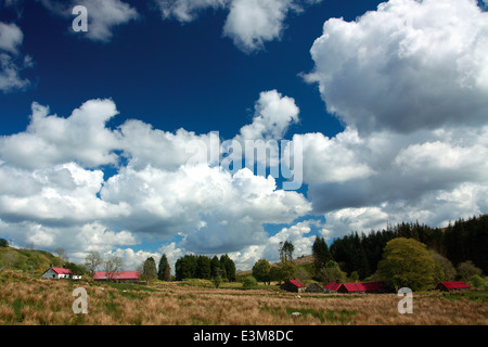 The Highland Township and open-air museum of Auchindrain, Argyll & Bute - Stock Photo