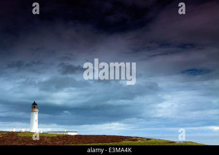 Mull of Galloway and the Mull of Galloway lighthouse, Galloway - Stock Photo