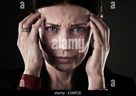 Portrait of stressed woman