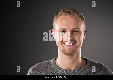 Portrait of confident man - Stock Photo