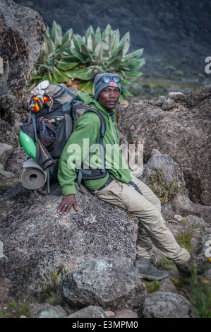 A local guide on the mountain - Stock Photo
