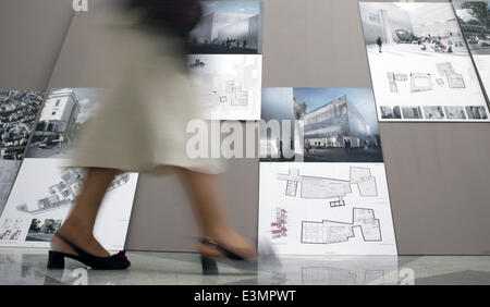 ITAR-TASS: MOSCOW, RUSSIA. JUNE 25, 2014. A project, winner of the close competition for the architectural development - Stock Photo