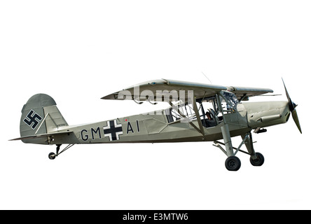 A cut out of the iconic Nazi German Fieseler Fi 156 Storch reconnaissance aircraft used extensively during WW2 by - Stock Photo