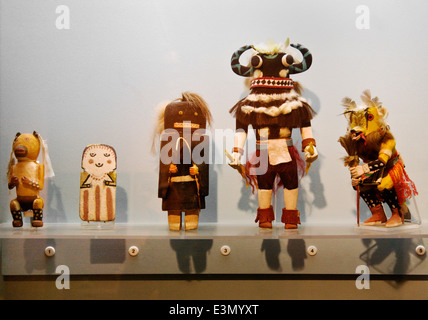 Native American KOTCINA DOLL at the PEABODY MUSEUM of ARCHAEOLOGY and ETHNOLOGY at HARVARD UNIVERSITY CAMBRIDGE, - Stock Photo