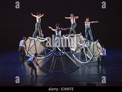 DANCE performance of DIAVOLO at the SUNSET CENTER - CARMEL, CALIFORNIA - Stock Photo