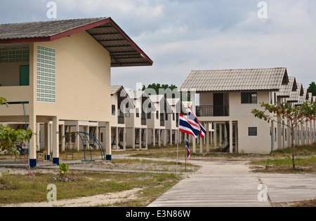 Unoccupied housing in the village of Ben Lion on KOH PHRA THONG ISLAND built after the 2004 Tsunami - THAILAND - Stock Photo