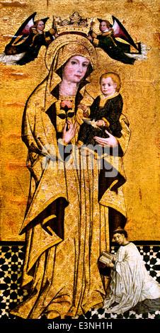 Virgen de la Antigua -Virgin of Ancient 1500 Anónimo Sevillano - Anonymous Sevillian Spain Spanish - Stock Photo