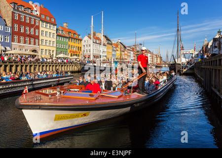 Nyhavn Canal, Nyhavn, Copenhagen Denmark - Stock Photo